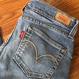 | Levi's 504 tilted waist jeans in medium blue